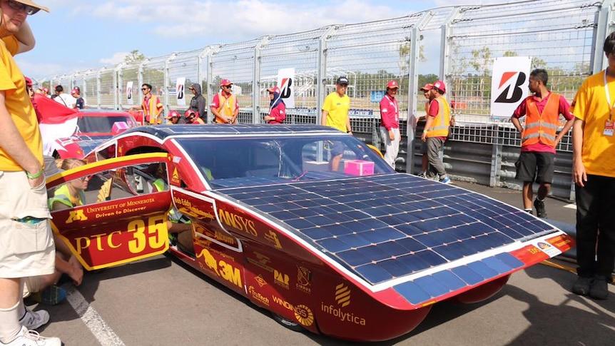 University of Minnesota's solar car entry