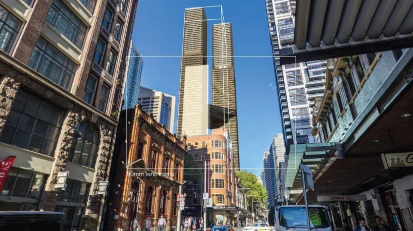 An artist's impression of twin towers in Sydney's CBD