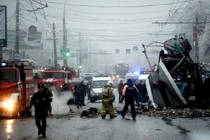 Trolley bus explosion in Volgograd