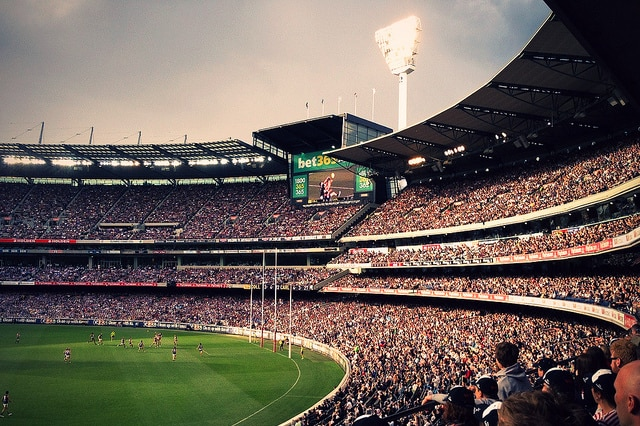 AFL at the MCG, crowd and field shot