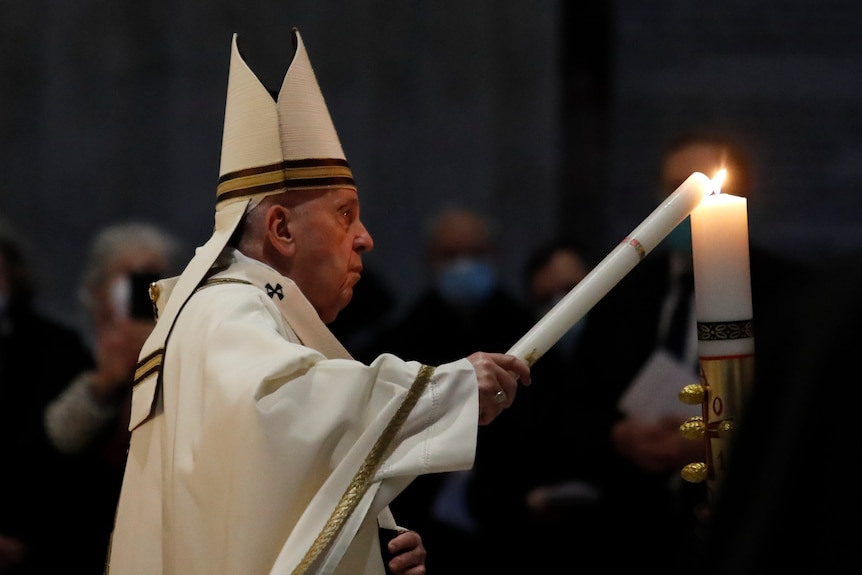 Pope Francis Easter Saturday, 2021