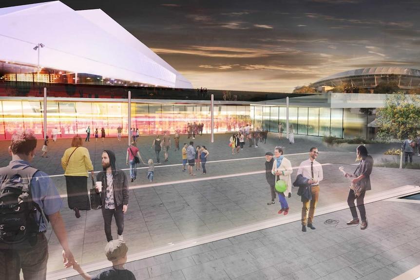 Artist impression of the Adelaide Festival Centre upgrade