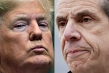 A composite image of Donald Trump and Andrew Cuomo