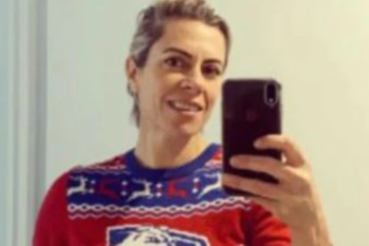Bridie O'Donnell in her Bulldogs jumper