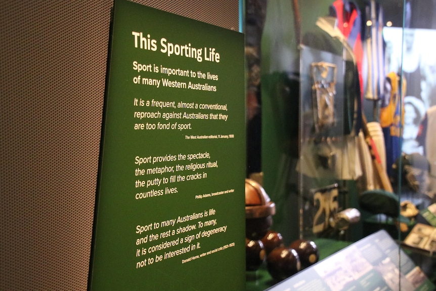 'This Sporting Life' exhibit at WA Museum