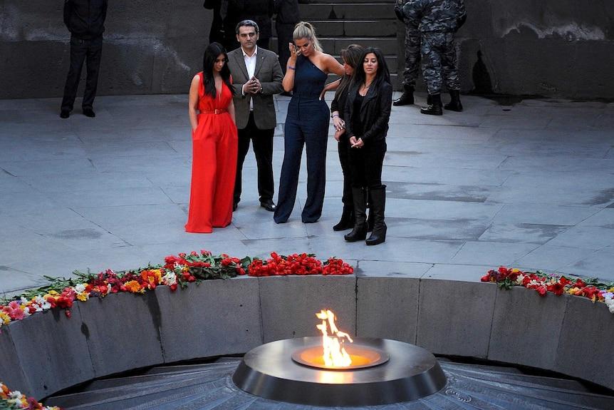 Kardashians visit memorial