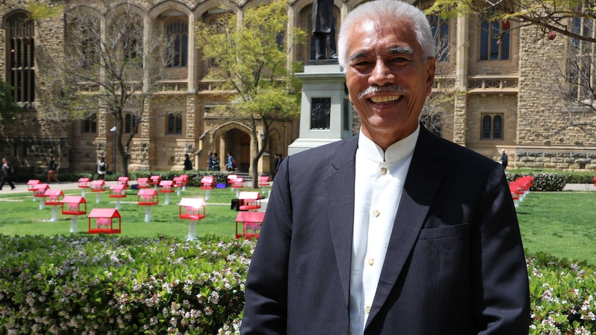Former president of the Pacific nation of Kiribati, Anote Tong.