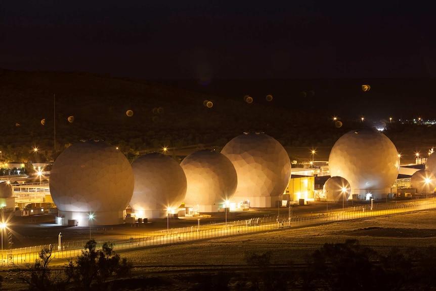 The Pine Gap facility at night