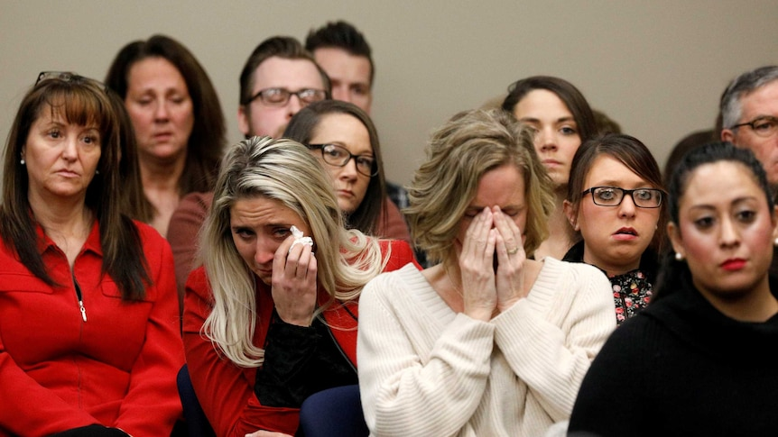 About 160 women testified, including Donna Markham, Alexis Moore and Jade Capua. (Pic: Reuters)