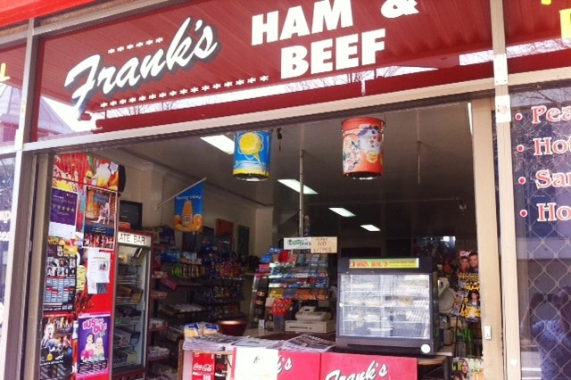 Frank Newbery's Union Street grocery store, where he was found brutally bashed to death in March 2007.