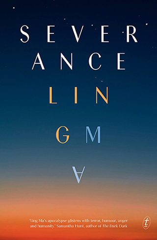 Colour image of the book cover of Severance by Ling Ma.