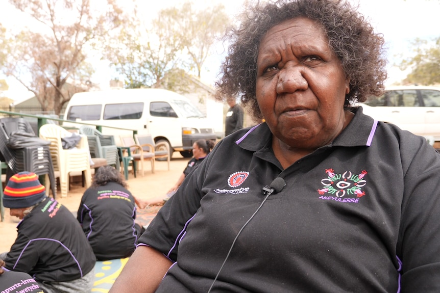 Teresa Alice, one of the women from Akeyulerre healing centre in Alice Springs