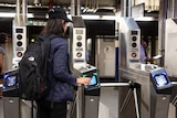 A contactless ticket system being trialled on the New York subway