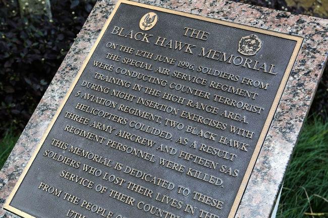 Black Hawk Memorial Plaque