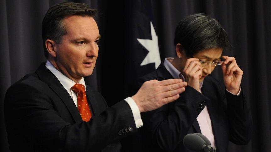 Treasurer Chris Bowen and Finance Minister Penny Wong