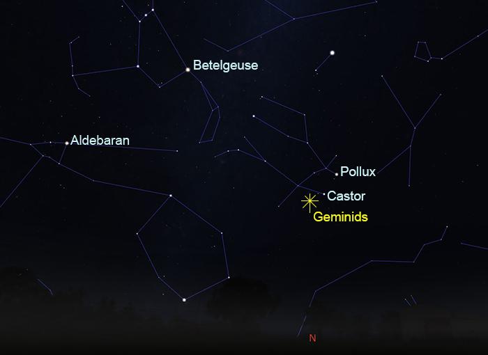Geminids meteor shower December 14 at 2.00am (AEDT)