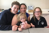Jessica Bennett with her children William, Chloe and Grace