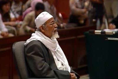 Abu Bakar Bashir appears in court