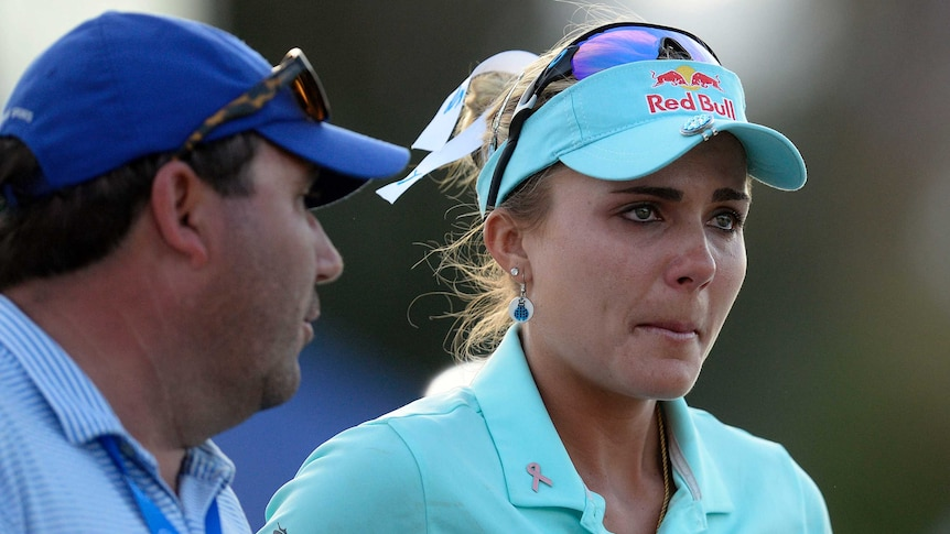 Lexi Thompson was notified of her penalty between the 12th and 13th holes of the last round