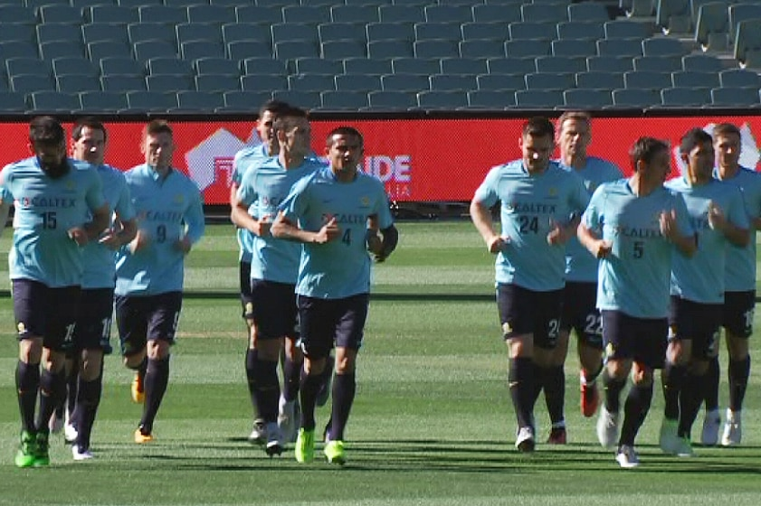 Socceroos training at Adelaide Oval