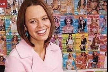 Mia Freedman with Cosmo covers.
