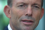 Federal Opposition Leader Tony Abbott addresses a conference