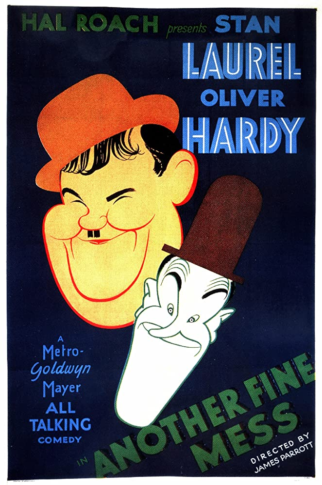 The poster for Laurel and Hardy movie The Finishing Touch