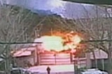 Impact: The moment one of the artillery shells hits the island of Yeonpyeong.