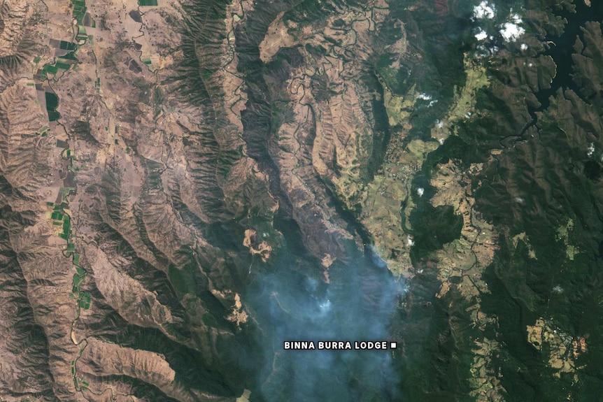 Satellite imagery of Lamington National Park