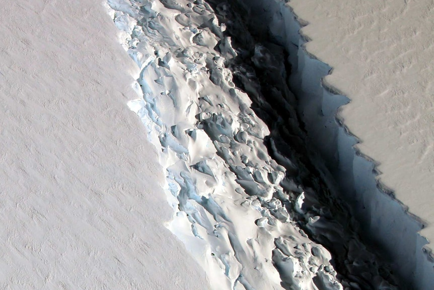 Rift in Antarctica's Larsen C Ice Shelf