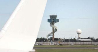 Plane at Sydney Airport.