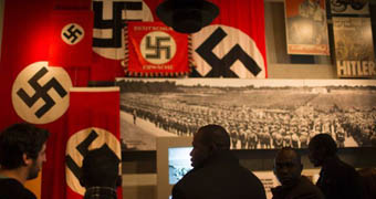 Visitors at Jerusalem's Yad Vashem Holocaust museum