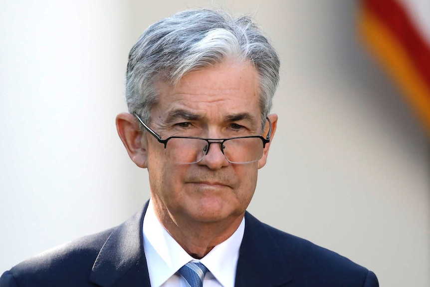 Jerome Powell at the announcement event in the Rose Garden.