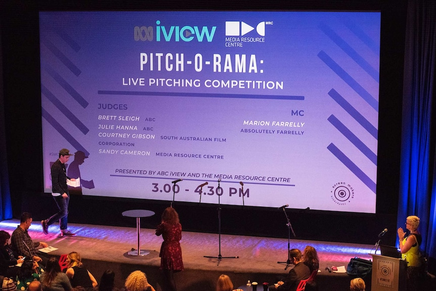 Pitch-o-rama at the 2019 Screen Makers Conference