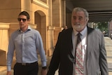 Darren Michael Hicks outside court, 2018
