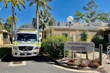 Ambulance parked next to the Westwood Wing at the North Rockhampton Aged Care Centre