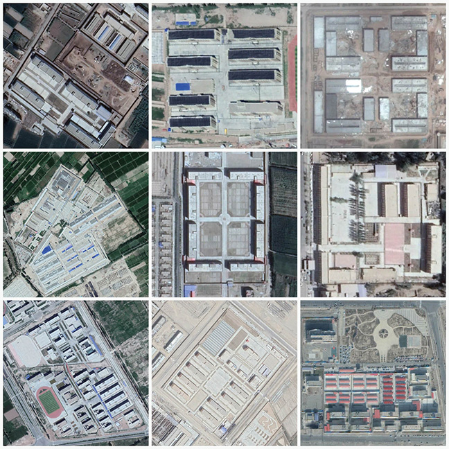 Satellite images of Xinjiang camps