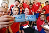 Students with Opal cards