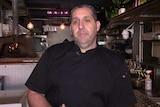 Attila Yilmaz in his restaurant.