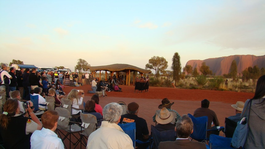 Uluru sunrise ceremony