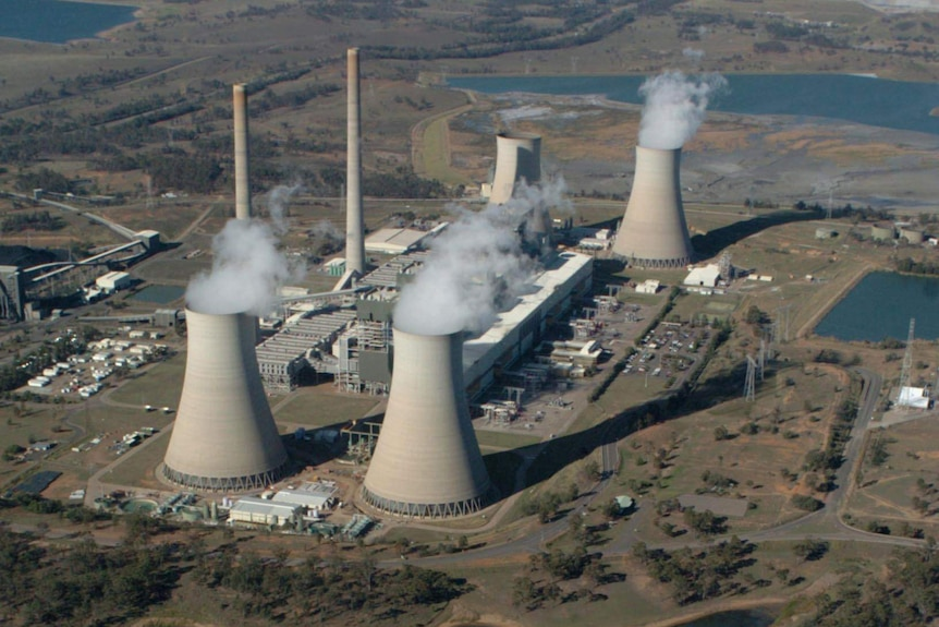 An eagle view of the Liddell power station in the Hunter Valley near Newcastle.