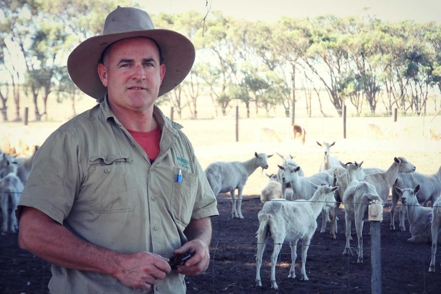 Goat farmer Mark Weston