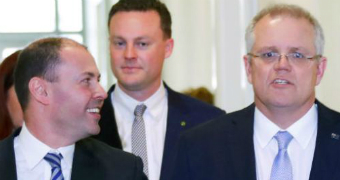 Josh Frydenberg and Scott Morrison