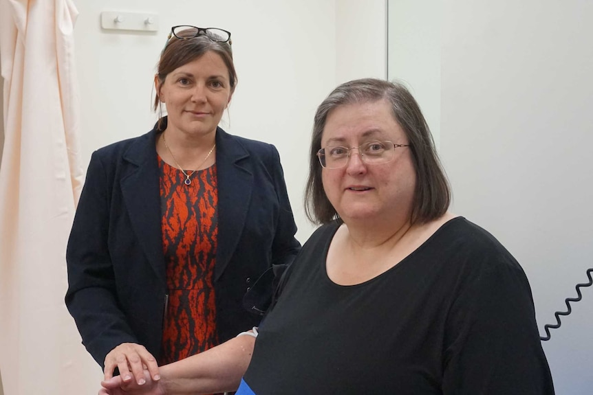 Professor Jenny Gunton  and patient Penelope Jackson who is a diabetic that developed scurvy.