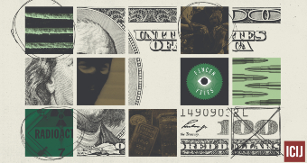 Collage of money.