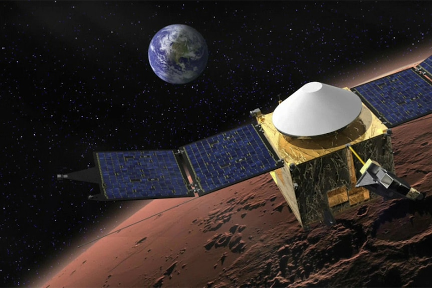 Artists impression of MAVEN spacecraft
