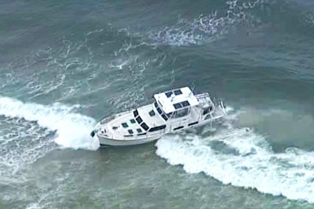 Boat in water.