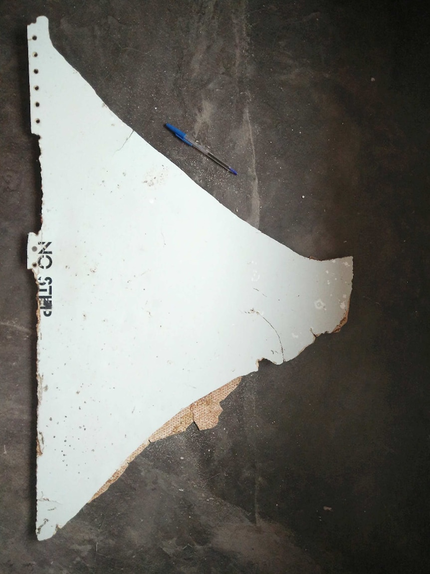 The suspected piece of aircraft debris found on Mozambique's coast.