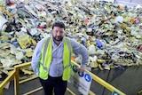 Garth Lamb at the Hume recycling facility