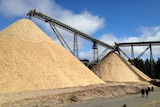 The re-opened Hampshire woodchip mill near Burnie